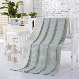 Popular Design Starfish Jacquard Light Gray Cotton Towel Quilt