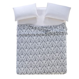 Luxurious Damask Pattern Jacquard Gray Cotton Towel Quilt