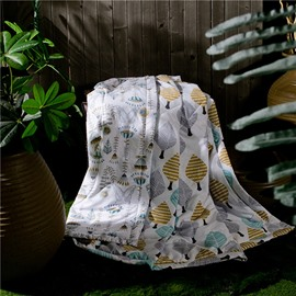 Contemporary Colorful Trees Print Air Conditioner Quilt