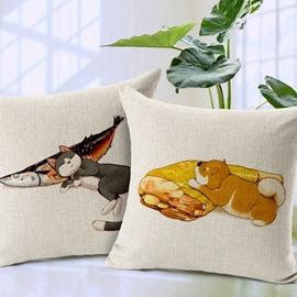 Pleasing Cat Print Square Throw Pillow Case