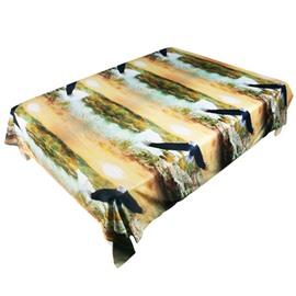 Gorgeous Flying Eagle Print Polyester Flat Sheet