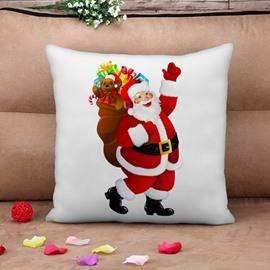 Lovely Santa Claus Print Throw Pillow Case