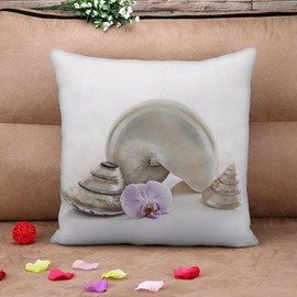 Chic Viviparidae Print Square Throw Pillow Case