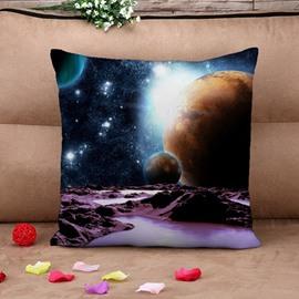 Unique Celestial Body Print Throw Pillow Case