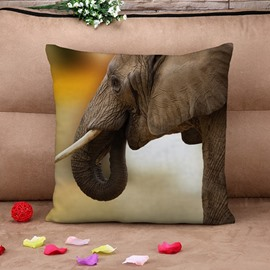 Marvelous Elephant Print Square Throw Pillow Case