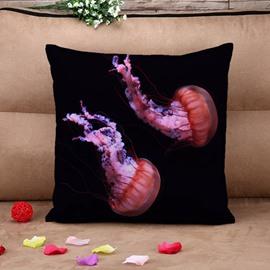 Creative Jellyfish Print Square Throw Pillow Case