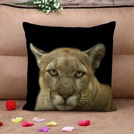 Lifelike 3D Leopard Print Throw Pillow Case