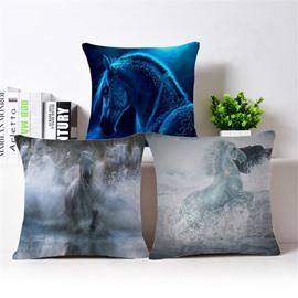 Fancy Imaginary Horse Print Throw Pillow Case