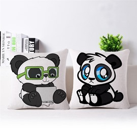 Faddish Likable Panda Print Throw Pillow Case