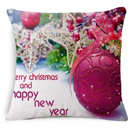 Pretty Colorful Christmas Decoration Print Throw Pillow Case
