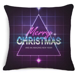 Fancy Merry Christmas Noble Purple Throw Pillow Case