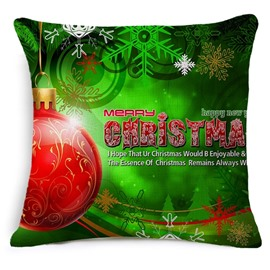 Delicate Red Christmas Decoration Print Throw Pillow Case