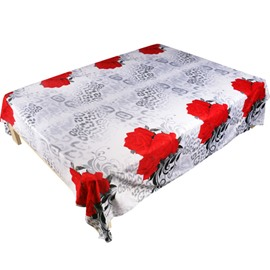 Unique Design 3D Red Rose Printed Cotton Flat Sheet