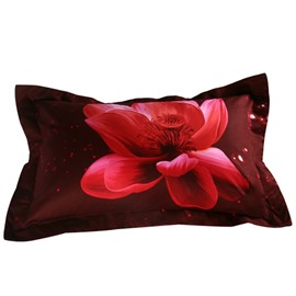 Gorgeous Pink Lotus Print 2-Piece Pillow Cases