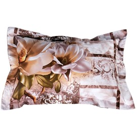 Lifelike Bright Magnolia 3D Print 2-Piece Pillow Cases