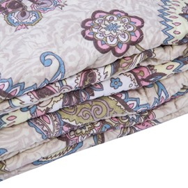 Vintage Style Jacobean Pattern Print Cotton 3-Piece Bed in a Bag