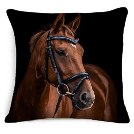 Awesome 3D Horse Printed Square Throw Pillowcase