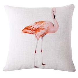 Beautiful Pink Flamingo Print Square Throw Pillow