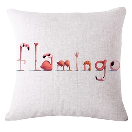 Chic Flamingo Art Design Square Throw Pillowcase