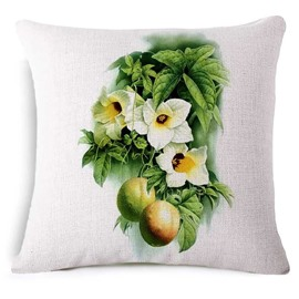 Attractive Momordica Cochinchinensis Print Square Throw Pillow