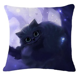 Adorable Halloween Black Kitty/Cat Printed Decorative Throw Pillow