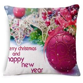 Gorgeous Christmas Decoration Print Square Throw Pillowcase