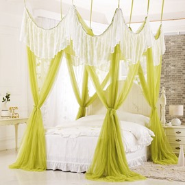 Royal Exquisite Lace Embellishment Polyester Eight-point Bed Canopy