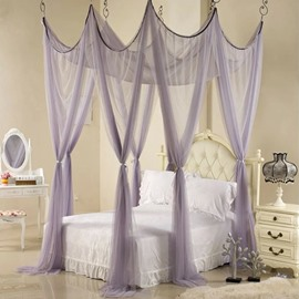 Fancy Princess Style Polyester Eight Corner Bed Canopy