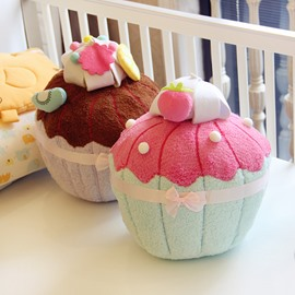 Lovely Cake Design Plush Decorative Throw Pillow
