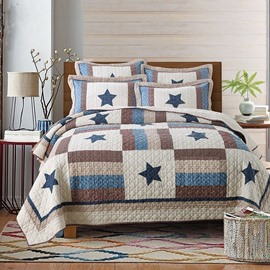 Chic Star Print 3-Piece Cotton Bed in a Bag