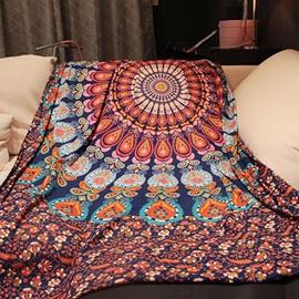 Exotic Bohemian Style Mandala Pattern Print Versatile Sheet