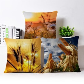Amazing Harvest Season Print Square Throw Pillow