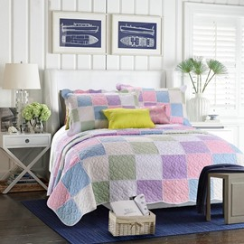 Colorful Patchwork Cotton 3-Piece Bed in a Bag