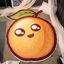 Cartoon Orange-shaped Thin Polyester Air-conditioner Quilt