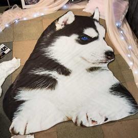 3D Husky Shaped Super Soft Polyester Quilt