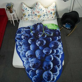 3D Grapes Design Vintage Style Lightweight Polyester Quilt