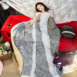3D Realistic Stone Design Soft Polyester Quilt