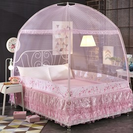 Folding Polyester Laced Dome Mongolian Yurt Bed Net