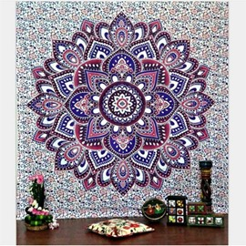 Lotus Flower Pattern Colorful Ethnic Style Hanging Wall Tapestries