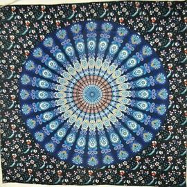 Floral Mandala Pattern Ethnic Style Jacquard Wall Tapestries