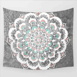 Floral Pattern Ethnic Style Jacquard Wall Tapestries