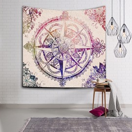 Pink Astrolabe Printing Bohemia Style Wall Tapestries