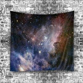 3D Colorful Creative Universe and Galaxy Stars Hanging Wall Tapestries