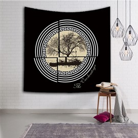 Chinese Wash Painting Tree Chic Style Hanging Wall Tapestries