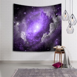 3D Purple Galaxy Space and Stars Hanging Wall Tapestries