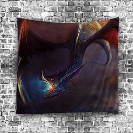 3D Horrible Beast Pattern Digital Printing Hanging Wall Tapestries