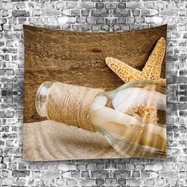3D Floating Bottle and Starfish Fresh Style Hanging Wall Tapestries