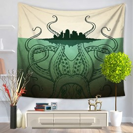 Octopus Under the City and Sea Prints Modern Style Hanging Wall Tapestries
