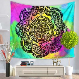 Colorful Mandala Pattern Prints Ethnic Style Hanging Wall Tapestries