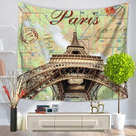 Huge Eiffel Tower Prints Modern Style Hanging Wall Tapestries